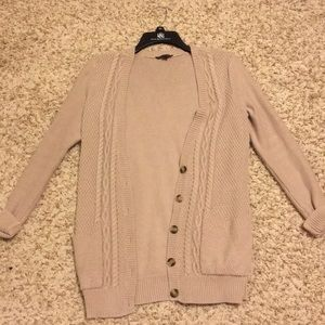 Knit cardigan oatmeal/tan/nude